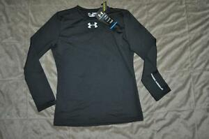 Under Armour Boys Cold Gear Evo Fitted Baselayer Crew 1233051 001 NWT See Sizes