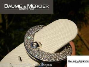 NEW BAUME & MERCIER LADIES GIA DESIGNER DIAMOND RING VICE VERSA WATCH MOA O8588
