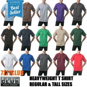 PRO CLUB HEAVYWEIGHT T SHIRTS PROCLUB MENS PLAIN SHORT SLEEVE BIG AND TALL M 7XL $7.50