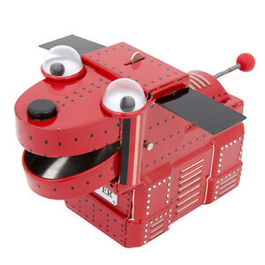 rover the red robot space dog clockwork tin