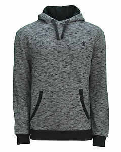 Soul Star Overhead Hoodie Men's Fleece Sweatshirt Hooded Top Charcoal Grey