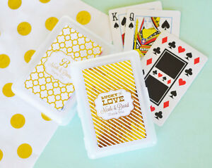 75 Personalized Playing Cards Gold or Silver Foil Wedding Anniversary Favor
