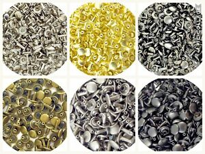 Springfield Leather Co Steel Double Cap Rivets 6 Colors 5 Sizes 3 Pack Options $59.52