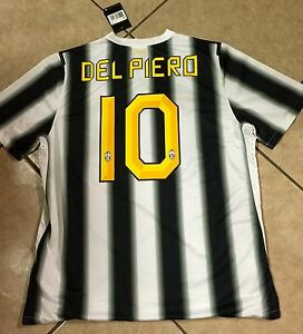Italy Juventus Player Issue Del pieroJersey  Nike Shirt  Football Maglia Unique