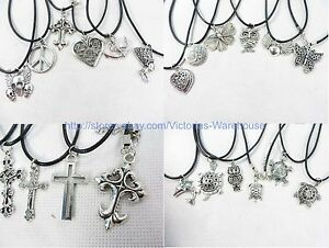 US Seller-0.70pc lot of 50 hippie necklaces wholesale fashion jewelry bulk lot