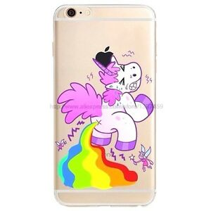 Funny Unicorn Pooping Diarrhea Rainbow Hilarious Soft Silicone Case for iPhone