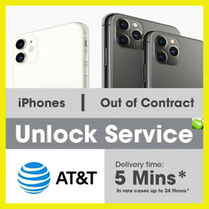 Factory Unlock Code Service IMEI ATamp;T for iPhone 11 XS XR X 8 7 fast 5m 24hrs $1.33
