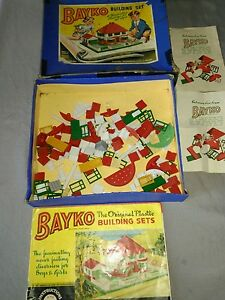 1950s building set boxed instructions for all sets