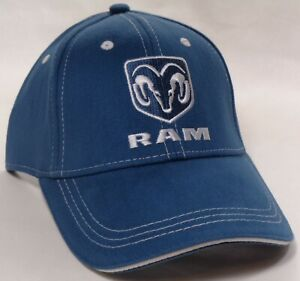 Hat Cap Licensed Dodge Ram Logo Truck Blue HR 222