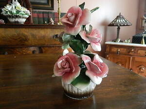 italian pink roses in a bowl