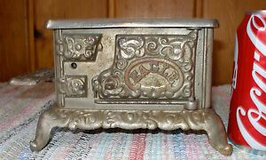 c 1900 eagle cast iron toy stove complete nickel