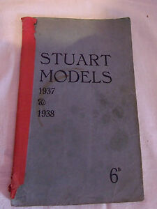 catalogue of stuart steam models 1937 and