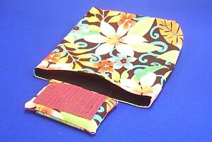 Handmade Sewing Table Hanging Bag by Carylon#x27;s Creations Colorful Flower Prints $25.00