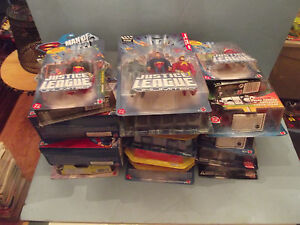 group lot of 20 dc superman other action figures