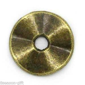 Gift Wholesale Metal Spacer Beads Round Bronze Tone 10mm( 38