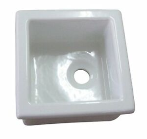 Barclay-Utility Sink 13in x 13in Fire Clay White LS330 New