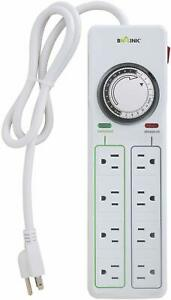 BN LINK 8 Outlets Power Strip with 24hr programmable timer and surge protector