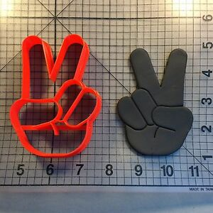 Peace Hand 101 Cookie Cutter