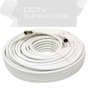 100 FT Gold Plated Coaxial Digital Cable for Satellite VCR TV Video White