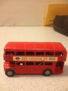 old vtg diecast double decker bus see london