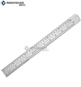 12quot; 30cm Stainless Steel High Quality Metal Ruler $4.90