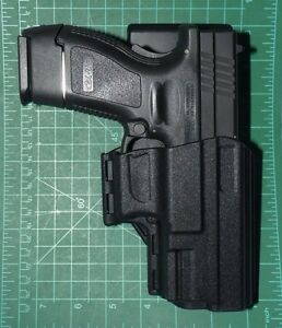 Uncle Mike's 74227 RH IRT Competition DO Belt Holster Springfield Armory XD XDM
