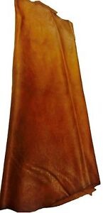 REED LEATHER HIDES - WHOLE SHEEP SKIN 7 to 10 SF - Light Brown Color