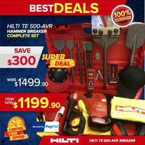 HILTI TE 500 AVR PREOWNED NICE CONDITION LOAD FREE EXTRAS DURABLE FAST SHIP