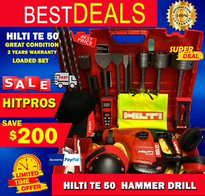 HILTI TE 50 BRAND NEW 2 YEARS WARRANTY LOADED SET FAST SHIP