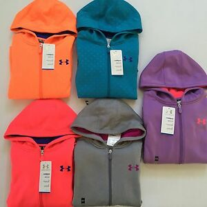 Girl's Youth Under Armour Cold Gear Zip Hoodies