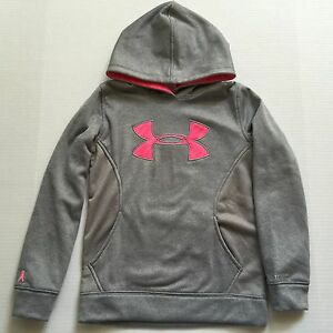 Girl's Youth Under Armour Breast Cancer Loose Fit Storm Hoodie