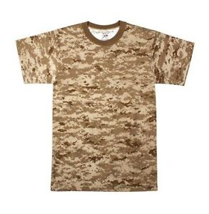 Mens Digital Camouflage T Shirt Desert Digital Camo by Rothco S TO 4X