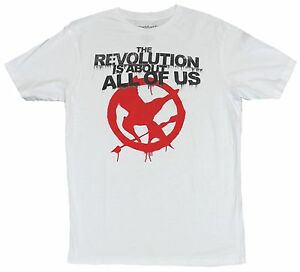 The Hunger Games Mens T-Shirt - Mocking Jay Spray Revolution About all Image