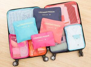 9Pcs Waterproof Clothes Storage Bags Packing Cube Travel Luggage Organizer Pouch $10.82