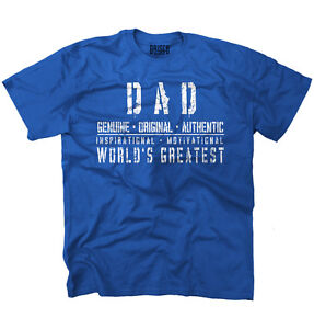 Worlds Greatest Dad Vintage Athletic Gift Mens Casual Crewneck T Shirts Tees $13.88