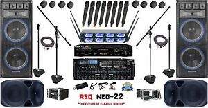 COMPLETE PROFESSIONAL SOUND PA SYSTEM MUSIC FOR BANDS CHURCHES CHOIR KARAOKE DJ