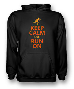 Keep Calm And Run On - Cool Running - Mens Hoodie