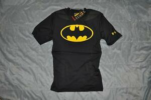 Under Armour Mens Alter Ego BATMAN Football Compression Shirt with Padding NWT