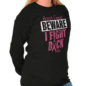 Breast Cancer Awareness Shirt Support Pink Ribbon Fight Gift Long Sleeve T Shirt
