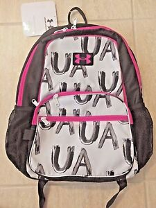 Under Armour Girls Great Escape Backpack Blackpinkwhite Graphic  1260542-100