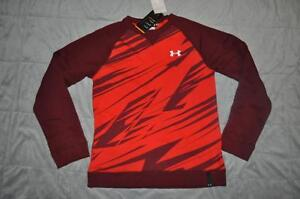 Under Armour Rival Sweatshirt Fleece Boys XL 1259713 600 Red NWT