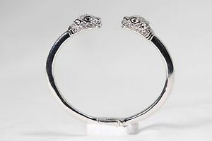 Nialaya Sterling Silver Women's Bracelet with White Stones 925 Sterling
