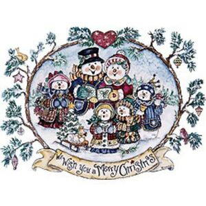We Wish You A Merry Christmas Snowman   Tshirt    Sizes/Colors