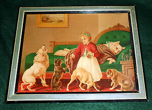 Scarce C. 1873 Chromolithograph ~ Throw Physic to the Dogs  ~ w Original Label