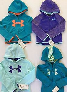 Girl's Youth Under Armour All Season Gear Zip Hoodies