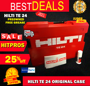 HILTI TE 24 CASE, PREOWNED, ORIGINAL, FREE HILTI GREASE INCLUDED, FAST SHIP