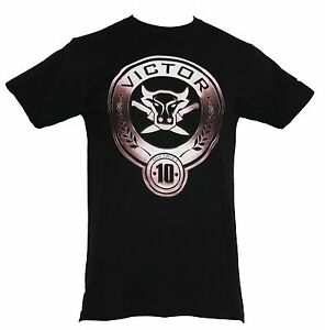 The Hunger Games Mens T-Shirt -District 10 Victor Bull & Knives Image