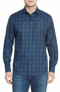 NEW $198 Robert Graham Boyd Classic Fit Check Sport Shirt For Men`s Sz XS S $69.98