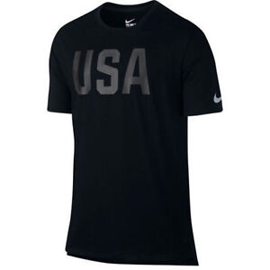 NIKE 2016 TEAM USA RIO OLYMPICS BLACK STEALTH S-2XL T SHIRT DRI FIT 801149 011