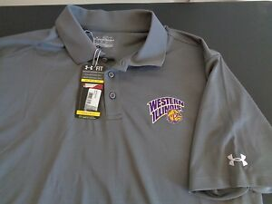 WESTERN ILLINOIS Leathernecks UNDER ARMOUR Polo Shirt 2XL Loose NEW Free Ship
